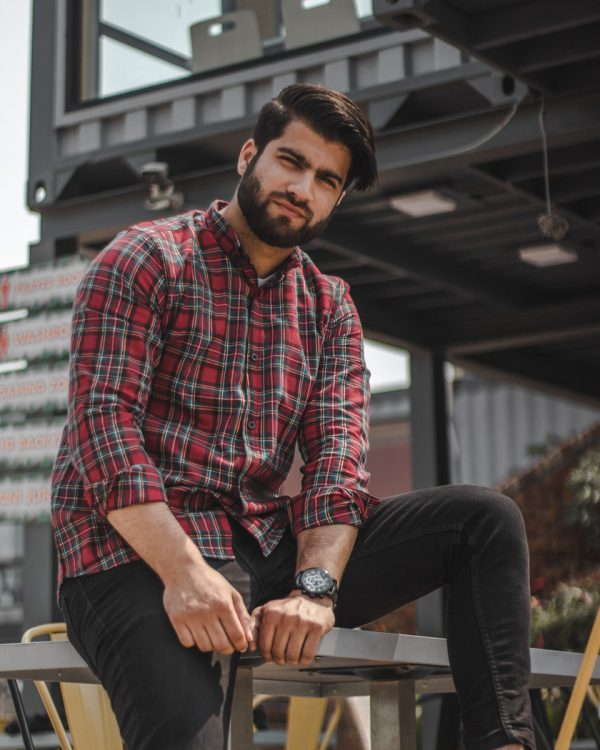 Men's Red Summer Flannel Shirts   The Scottish Bagpiper