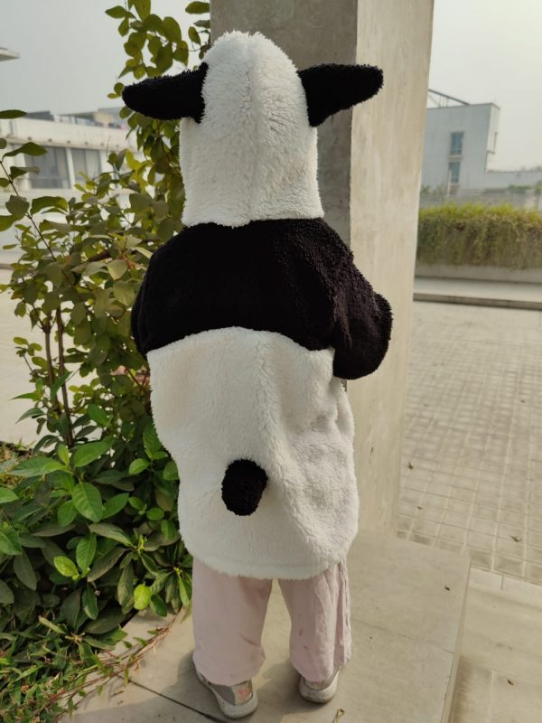 The image displays Gorur Ghash newest collection of a cute oversized hoodie for kids (toddlers). The hoodie comes in black and is known as The Panda. It has been proudly made in Bangladesh (BD)